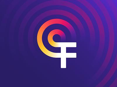 F Letter + Orbit Logo lettering mark fire 3d logo gradient pattern ripples location pin orbit sign degree waves firefox browser app logo app icon logo f logo letter f