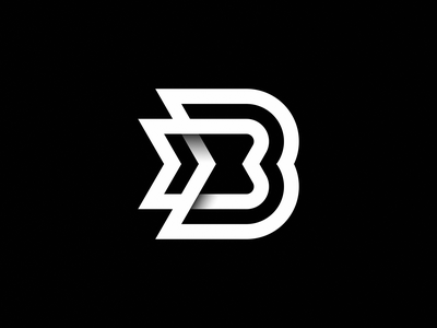 BB Logo Concept ripples signal glitch hourglass 3d logo gradient path link bass wings arrow dj waves music lettermark lettering letter b identity branding logo