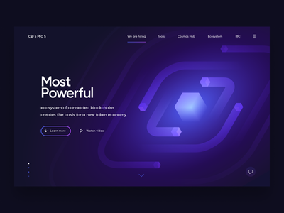 Blockchain Illustration Concept design web ui identity branding startup tech stars spiral planets universe crypto wallet cryptocurrency crypto tokens galaxy space isometry blockchain illustration