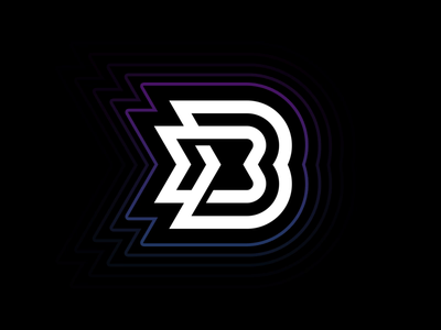 Animated Logo for Ballbass DJ Vlog aftereffects letter b lettering bolt intro vlog blog electronic electric waves dj motion animation music identity branding logo