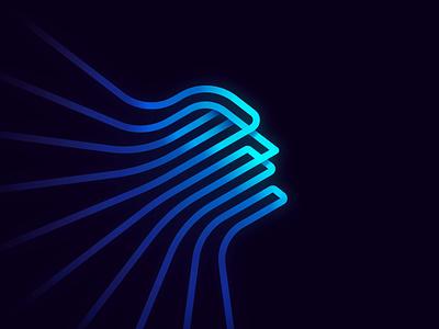 The Eternal Dreamer ethereum nft videoart token collectible nftart waves human lineart gradient dream animation foundation cryptoart rarible