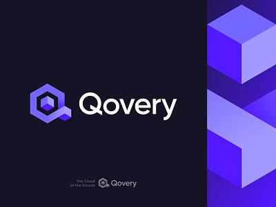 Qovery Logo Redesign rebranding redesign enterprise startup tech software developer blockchain cube cloud coding deploy app fullstack isometry icon gradient identity branding logo