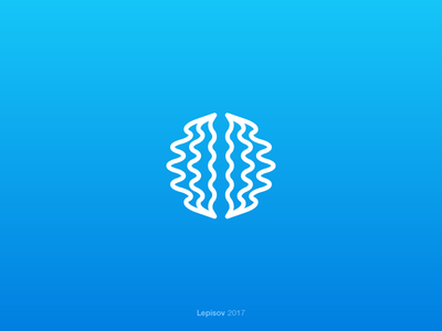 Neurominer Sound App Symbol flatdesign minimal logodesign design logo neurons soundwaves waves mind sound training brain