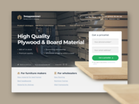 Plywood wholesale landing page