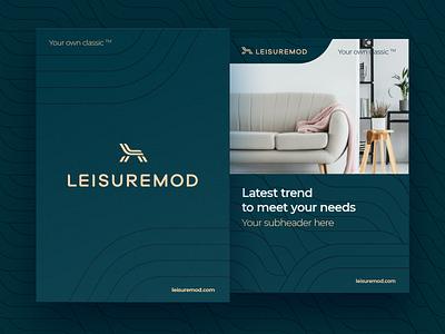 Leisuremod Poster Templates logotype background brand typography poster print layout grid pattern logo identity branding