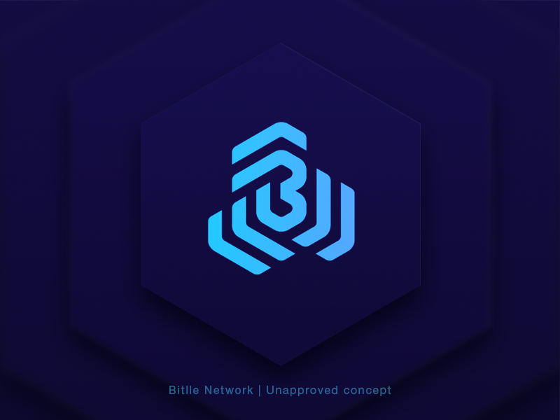 Bitlle Network | Unapproved Concept cryptocurrency logo sign icon branding identity concept network mark waves blockchain stripes arrows