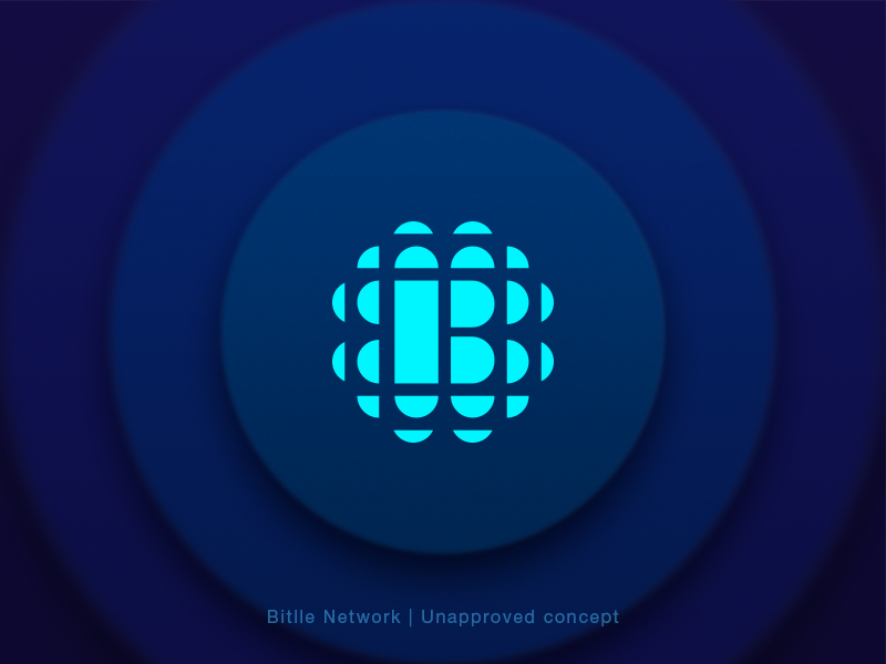 Bitlle Network | Unapproved Concept - 2 token blockchain branding concept cryptocurrency icon identity logo mark network sign circle
