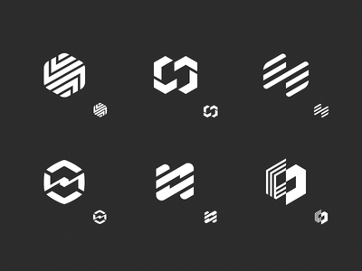 Intermash logo shape exploration metal factory industry machinery vector flat black and white monochrome concept icon mark logo sign sketches identity branding