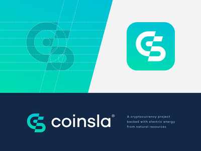Coinsla branding concept unused logo investment lines technology finance money coin electrical tesla glitch power energy electricity fintech blockchain cryptocurrency crypto app icon monogram logo
