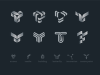 T logo sign exploration sketches