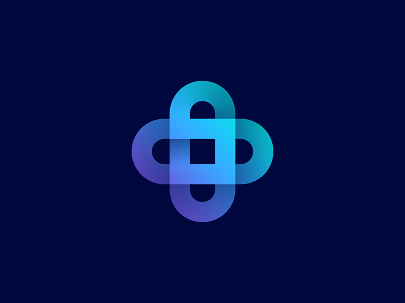 S + lock + coins logo heart transparent gradient s letter plus e-wallet money transfer bank lock blockchain crypto currency coin exchange transfer transaction payment security branding identity logo