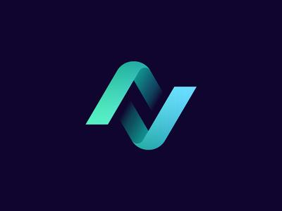 N + Checkmark Logo Concept