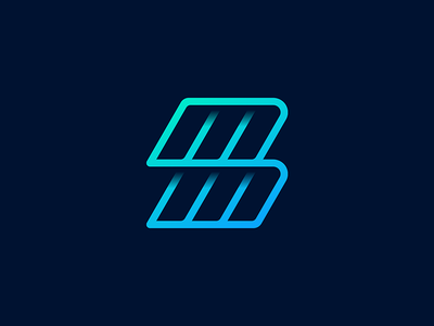 M+M Logo Concept geometric stripes unused identity branding gradient overlap connection auto dealer app icon mobile app lettering tyre diagram motor car speedway outline lines logo
