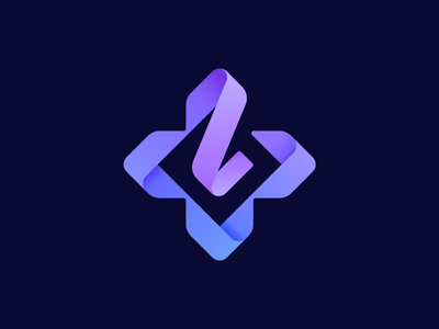Laced Up Lauren approved logo sign branding identity 3d gradient letter l laces arrows keyboard controller cross broadcaster cybersport esports d-pad joystick ribbon icon logo twitch streamer gaming