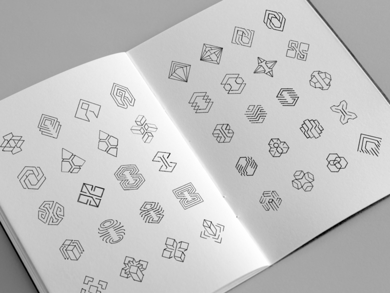 Immutable logo draft sketches letter i star wire stone chrystal publisher portal tech hexagon geometry esport cybersport crypto circuit gaming blockchain sketches pencil branding logo