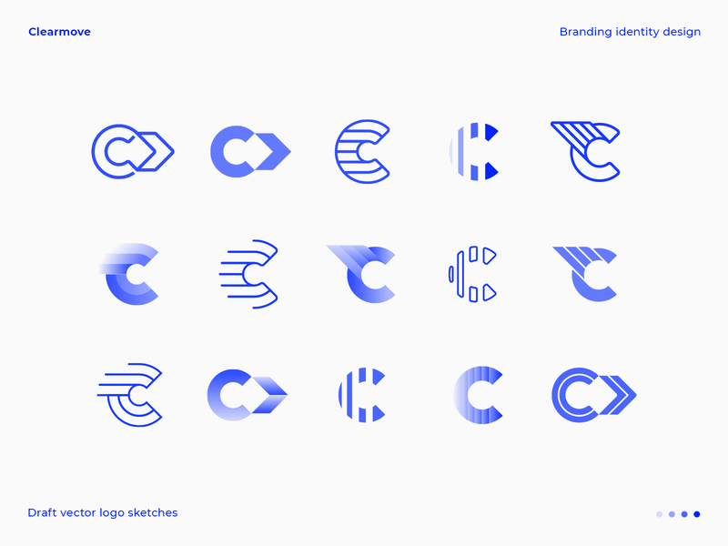 C letter logo draft vector explorations