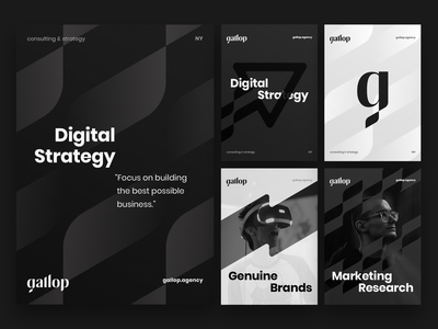 Gallop branding identity explorations