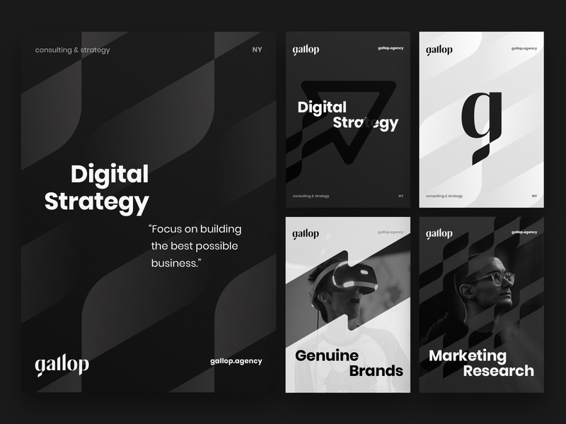 Gallop branding identity explorations branding poster pattern wordmark typography type racing marketing logotype logo lettering identity glitch flag dynamic digram custom chess barchart agency