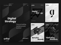 Gallop branding identity explorations