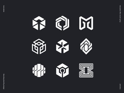 Immutable logo draft vector sketches