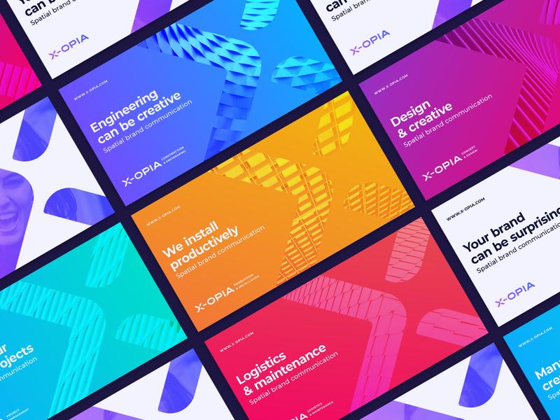 X-Opia Umbrella Branding Concept cross star crossroad arrow letter x identity layout brandbook poster ui billboard custom typography wordmark logo key visual brand master umbrella branidng