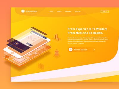 Homepage design sign in,sign out,register,banner web design ui home page,illustration home page
