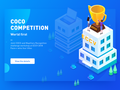 Coco Mapillary banner ui design architecture webpage design illustrations 2.5d competitions trophies technology