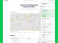 Facility Finder for Video Streaming Research Facilities