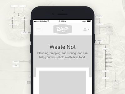 Waste Not Wireframing, Prototyping, and User Testing