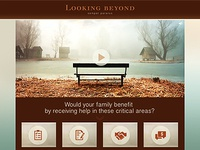 Concept of website design for organization of funeral