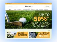 Golf e-commerce concept