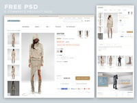 E-Commerce Product Page FREE PSD
