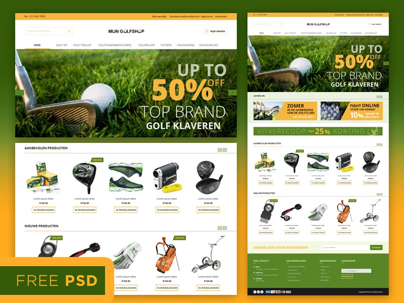 Magento Template Free psd file magento e-commerce freebies free