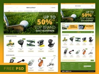 Magento Template Free psd file