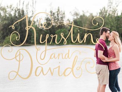 Kyrstin & David Lettering