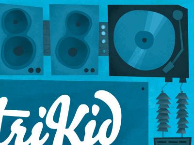 CentriKid Album Artwork Illustration illustration blue