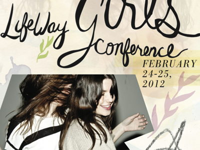 Girls Conference Cover collage girls feminine watercolor ink