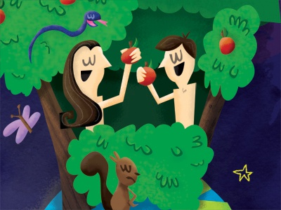 Adam and Eve illustration