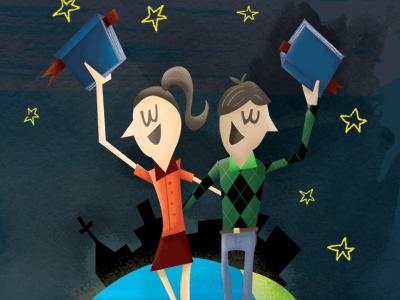 A Couple of Kids illustration