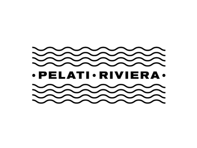 Pelati Riviera -  Logo white black design logo
