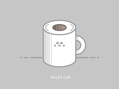 Sunday Illustration #01 - TOILET CUP burelli alessandro illustration sunday