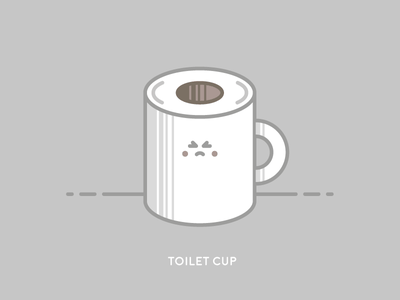 Sunday Illustration #01 - TOILET CUP burelli alessandro illustration sunday