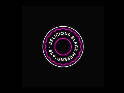 Delicious Black Merend' Ass  design graphic logo