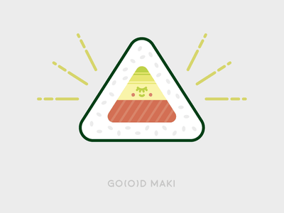 Sunday Illustration #03 - GO(O)D MAKI flat triangle god sushi maki graphic design illustration burelli alessandro 03 sundayillustration