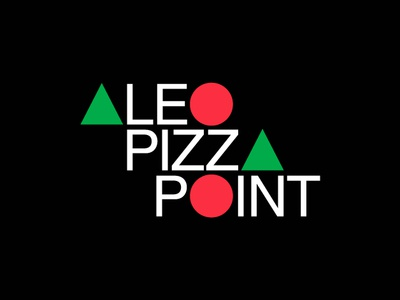 ALEO PIZZA POINT food pizza bauhaus helvetica graphic  design logo
