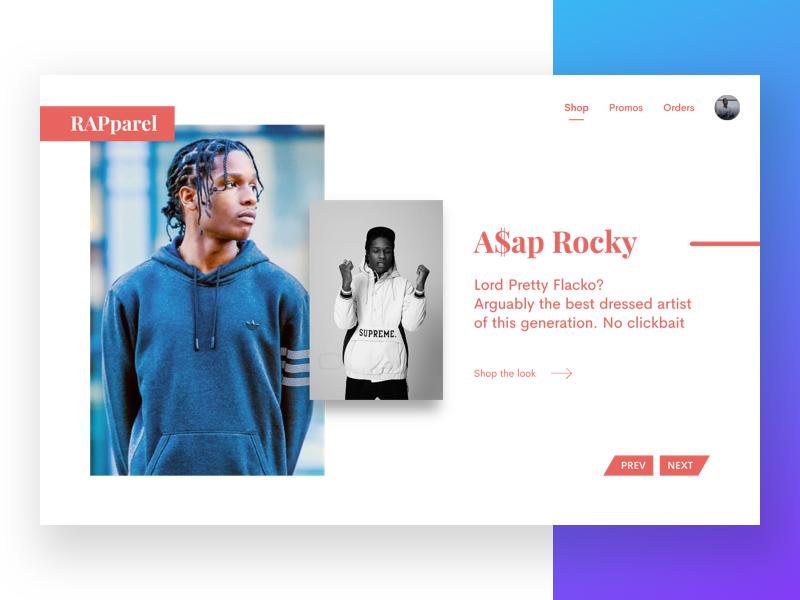 WIP #InvisionStudioExport 1/10 🎤 website desktop design ux ui invision studio artist rap e-commerce shop web
