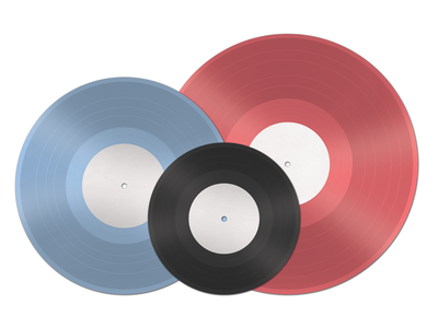 Vinyl Record Templates vinyl record template mockup freebie
