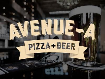 Avenue–A Pizza & Beer pizza beer liberator banner logo vintage retro digitalsignage