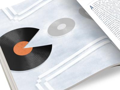 Pac Man Record Illustration vinyl record illustration mockup