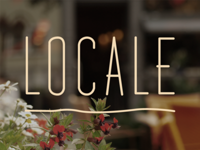 Locale Fast–Casual logo logotype fast-casual